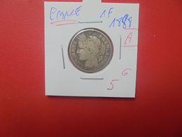 """FRANCE 1 FRANC 1888 """"A"""" ARGENT (A.3) - France"""