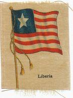Flag Painted On Silk Liberia  Size 5 By 7 Cms .  Circa 1910. . Drapeau     Soie - Liberia