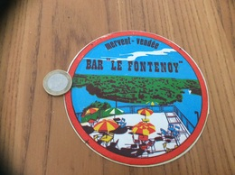 Ancien AUTOCOLLANT, Sticker «BAR LE FONTENOY - MERVENT (85)» - Adesivi