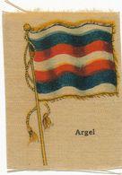Flag Painted On Silk Argel Alger Algerie   Size 5 By 7 Cms .  Circa 1910. . Drapeau     Soie - Argelia