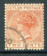 Ceylon 1899-1900 QV - 2c Pale Orange-brown Used (SG 256) - Ceylon (...-1947)