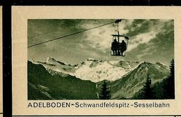 Carte Neuve Illustrée N° 182 - 009 C ( ADELBODEN - Schwandfeldspitz - Sesselbahn) - Entiers Postaux