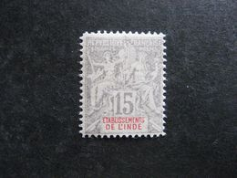 Inde:  TB N° 15. Faux Fournier, Neuf XX . - India (1892-1954)