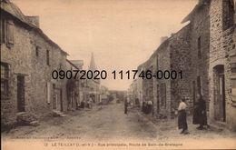 LE TEILLAY. Cpa.  Rue Principale, Route De Bain-de-Bretagne.  (scans Recto-verso) - Altri Comuni