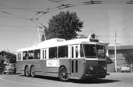 Reproduction D'une Photo Ancien  D'un Trolley Bus - Riproduzioni