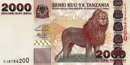 TANZANIA P. 37b 2000 S 2009 UNC - Tanzania