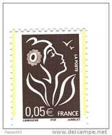 Lamouche 0.05 € Brun ITVF TYPE II YT 3754a Avec 2 Bandes De Phosphore ( Demi Bandes ) Par Décalage . Voir Le Scan . - Variedades: 2000-09 Nuevos