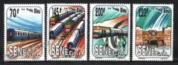 Senegal 1992 Yvert 993-96, Trains. Blue Train & Railway Station - MNH - Senegal (1960-...)