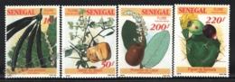 Senegal 1992 Yvert 1013-16, Flora. Fruits - MNH - Senegal (1960-...)