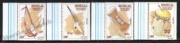 Senegal 1997 Yvert 1255-58, Music. African Instruments - Border - MNH - Senegal (1960-...)
