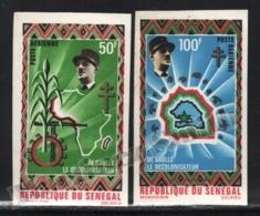 Senegal 1971 Yvert Airmail 98-99, Famous People. Statesman, Charles De Gaulle - Non Perforated - MNH - Senegal (1960-...)