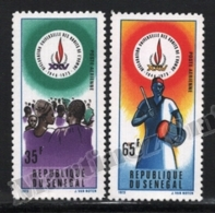 Senegal 1974 Yvert Airmail 142-43, Celebrations. 25th Anniv Universal Declaration Human Rights - MNH - Senegal (1960-...)