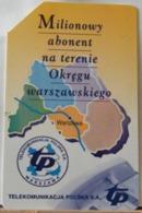 PO96- POLONIA - POLSKA , URMET - 50 - MILIONOWY ABONENT NA TERENIE OKREGU WARSZAWSKIEGO, MILIONI ISCRITTI VARSAVIA - Pologne