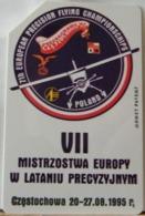 PO97- POLONIA - POLSKA , URMET - 25 - VII MISTRZOSTWA EUROPY W LATANIU PRECYZYJNYM VII CAMPIONATI EUROPEI - Pologne