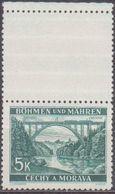 33/ Bohemia & Moravia; ** Nr. 45 Dark Green - Stamp With Coupon - Bohême & Moravie