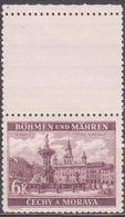 35/ Bohemia & Moravia; ** Nr. 46 Violet - Stamp With Coupon - Bohême & Moravie