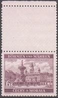 36/ Bohemia & Moravia; ** Nr. 46 Brown-violet - Stamp With Coupon - Bohême & Moravie