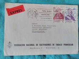 1979 - Expres Madrid Vers Bergerac - Fédération National De Cultivadores De Tabasco Peninsular - - Spanien