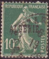 Algérie 10c Semeuse Surcharge Variété Algékie CONSTANTE Case 79 Feuilles Paires Tirages Par Rotative De 1925 Oblitéré TB - Algérie (1924-1962)