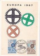Carte Premier Jour EUROPA 1967 - FDC
