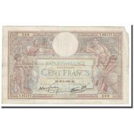 France, 100 Francs, Luc Olivier Merson, 1939, 1939-03-30, B+, Fayette:25.44 - 1871-1952 Antiguos Francos Circulantes En El XX Siglo