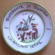 Piatto Buon Ricordo -Chianciano Terme - La Casanova - Scottiglia - Ventennale XX - Obj. 'Souvenir De'