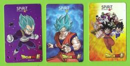 3 Carte Cadeau  SPIRIT -  Dragon Ball.   Mangas.   Gift Card.    Geschenkkarte. - Cartes Cadeaux