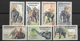 LAOS    -   1958  .    Y&T N° 44 à 50 **.     Eléphants.   Série Complète - Laos