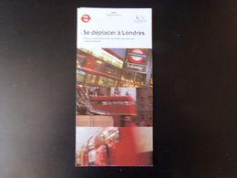 """Dépliant """" Se Déplacer à Londres """" 1997 - Dépliants Touristiques"""