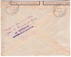 Lettre De PARIS 1951 Marianne GANDON > Tunisie OUVERT PAR ERREUR Par Le Receveur Des Postes SFAX étiquette N° 509 - Tunisie (1888-1955)