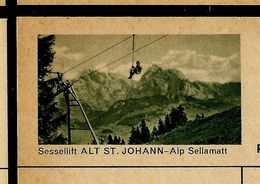 Carte Neuve Illustrée N° 182 - 0333 C  ( Sessellift ALT ST . JOHANN - Alp Sellamatt ) - Entiers Postaux