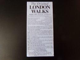 """Dépliant """" The Original London Walks """" 1997 - Dépliants Touristiques"""