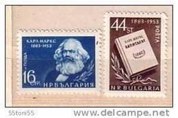 1953 Famous People Karl Marx -philosopher, Social Scientist, Historian Revolutionary 2v.-MNH  Bulgaria / Bulgarien - Karl Marx