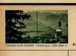 Carte Neuve Illustrée N° 182 - 0105 C ( CRANS - SUR - SIERRE Téléphérique 1500-2600 M) - Entiers Postaux