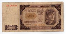 - Billet POLOGNE - 500 Zlotych - NARODOWY BANK POLSKI - - Pologne
