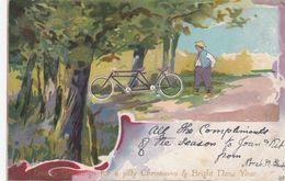 Tatum Bicycle Christmas Greetings , 00-10s - Postcards