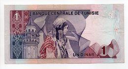 - Billet BANQUE CENTRALE DE TUNISIE - 1 DINAR - - Tunisie