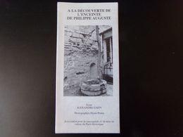 """Dépliant Touristique """" A La Découverte De L'enceinte De Philippe Auguste, Paris """" 1994 - Dépliants Touristiques"""