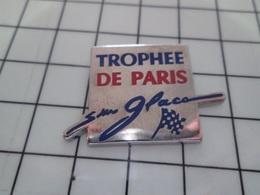 1220 Pin's Pins / Beau Et Rare / THEME : AUTRES / TROPHEE DE PARIS SUR GLACE Vanille ? Fraise ? Rhum Raisin ? - Pin's