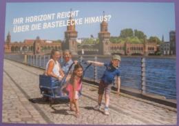 GERMANY POSTCARD KINDERGARTEN CITY BERLIN PICTURE ADVERTISING DESIGN ORIGINAL PHOTO POST CARD PC STAMP - Advertising
