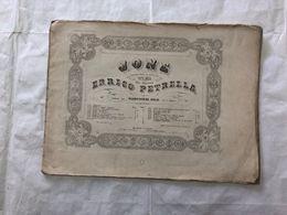 SPARTITO MUSICALE JONE ERRICO PETRELLA SCENA E DUETTO FINALE. - Partitions Musicales Anciennes