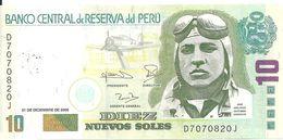 PEROU 10 NUEVOS SOLES 2006 VF P 179 B - Peru