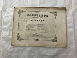 SPARTITO MUSICALE GIUSEPPE VERDI RIGOLETTO PRELUDIO ED INTRODUZIONE- - Partitions Musicales Anciennes