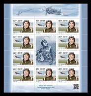 Russia 2020 Mih. 2839 Aviation. World War II Fighter Ace Ivan Kozhedub (M/S) MNH ** - 1992-.... Föderation