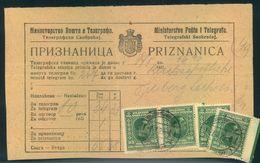 1929, Receipt For Telegram Fees From DUBROVNIK (Priznanica) - Non Classés