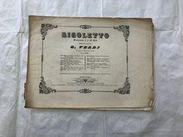 SPARTITO MUSICALE GIUSEPPE VERDI RIGOLETTO MINUETTO E RIGODINO. - Partitions Musicales Anciennes