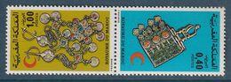 MAROC - N°761/2A **  Paire Tête-bêche (1976) Croissant Rouge - Bijoux - - Maroc (1956-...)