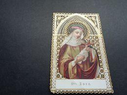Devotieprentje ( 2057 )  Image Pieuse Religieuse Dentellée Avec Dentelle - Prentje Met Kant - Ste Rose - Images Religieuses