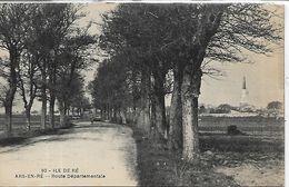 17 Charente Maritime, ARS EN RE, Route Départementale, Scan Recto Verso - Autres Communes
