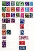 USA, Sammlung M. 150 Gebr. Marken Auf 4 Seiten. Einige Höhere Werte - Timbres